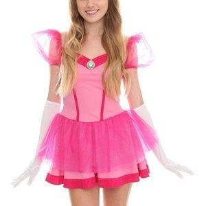 Super Mario Princess Peach Dress Halloween Costume